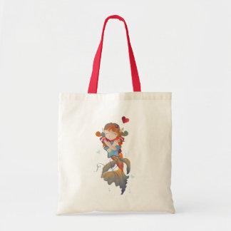 Cute Mermaid Hugging a Pillow Tote Bags