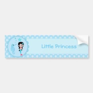Cute Mermaid in Blue Bumper Sticker