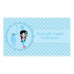 Cute Mermaid in Blue Business Card Templates