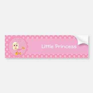 Cute Mermaid in Pink Bumper Sticker