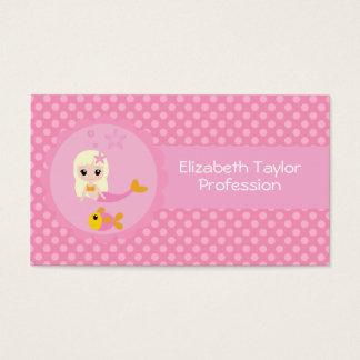 Cute Mermaid in Pink Business Card