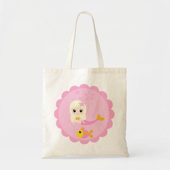 Cute Mermaid in Pink Tote Bag