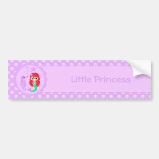 Cute Mermaid in Purple Bumper Sticker