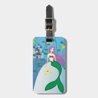 Cute Mermaid Luggage Tag