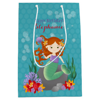 Cute Mermaid Medium Gift Bag