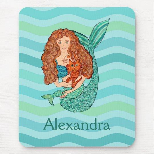 Cute Mermaid & Mercat Teal & Sea Green