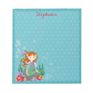 Cute Mermaid Notepad