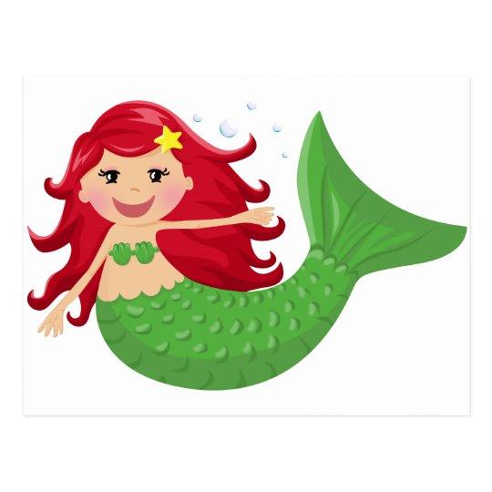 Cute Mermaid Postcard