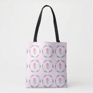 Cute Mermaid Print Bag Pink