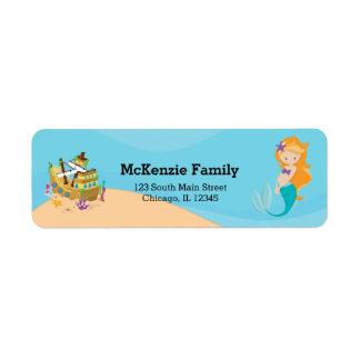 Cute Mermaid Return Address Label