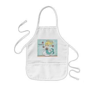 Cute mermaid to personalize kids apron
