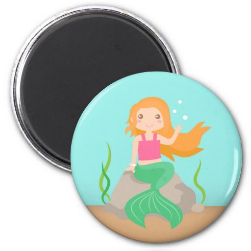 Cute Mermaid under the sea, for Girls Refrigerator Magnets