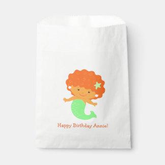Cute Mermaid White Favor Bag