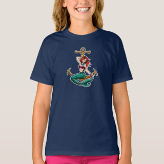 Cute Mermaid with Anchor T-Shirt