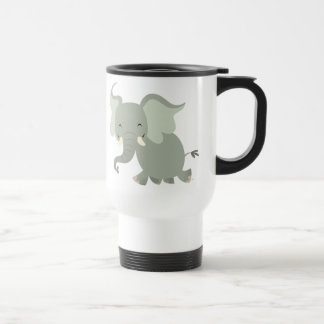 Cute Merry Cartoon Elephant Commuter Mug