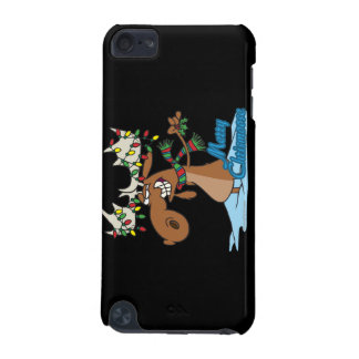 cute merry chrismoose silly christmas moose iPod touch 5G cases