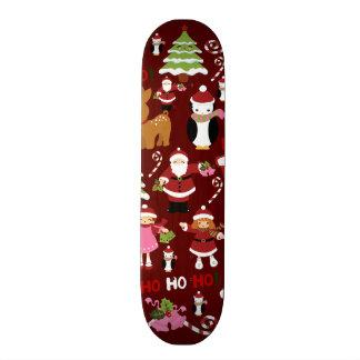 Cute Merry Christmas Xmas Holiday Pattern 20 Cm Skateboard Deck