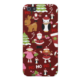 Cute Merry Christmas Xmas Holiday Pattern iPhone 5 Covers