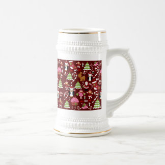 Cute Merry Christmas Xmas Holiday Pattern Mugs