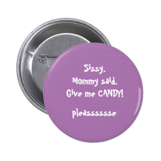 cute message from lil sis 6 cm round badge