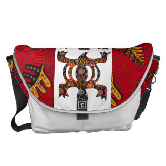 Cute Messenger Bags With African Fabric, Symbol