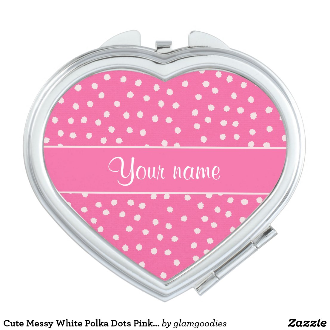 Cute Messy White Polka Dots Pink Background