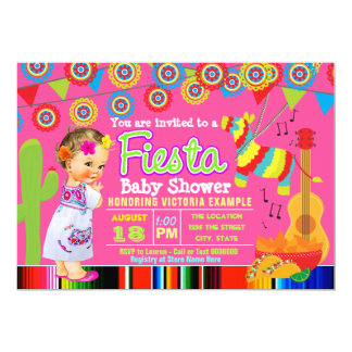 Cute Mexican Fiesta Baby Shower Invitations