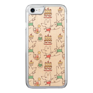 Cute Mice Bakery Chef Drawing Pattern Carved iPhone 8/7 Case