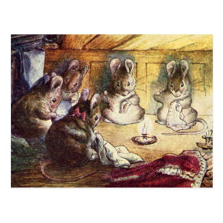 Cute Mice Sewing Post Cards