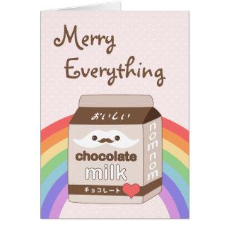 Cute Milk Mustache Holiday Card