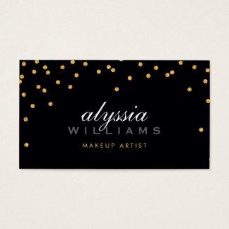 CUTE mini confetti gold sparkly glitter bold black