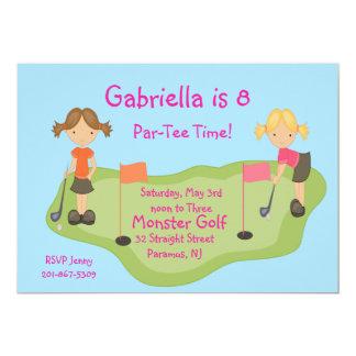 Cute Miniature Golf Girls Party Invitation