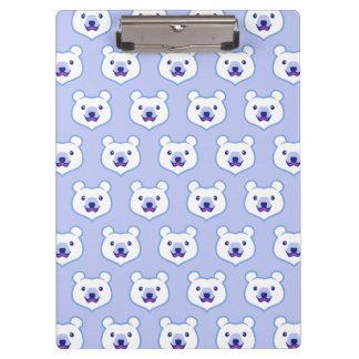 Cute Minimalist Cartoon Polar Bear Clipboard