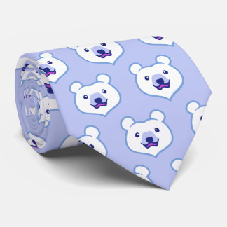 Cute Minimalist Novelty Polar Bear Tie