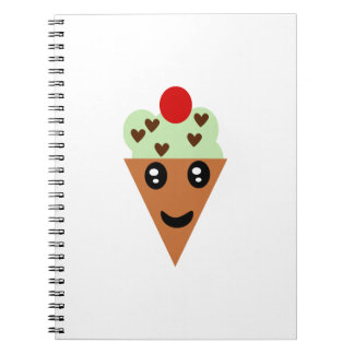 Cute Mint Chocolate Chip Ice Cream Note Book