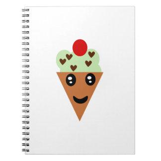 Cute Mint Chocolate Chip Ice Cream Note Book