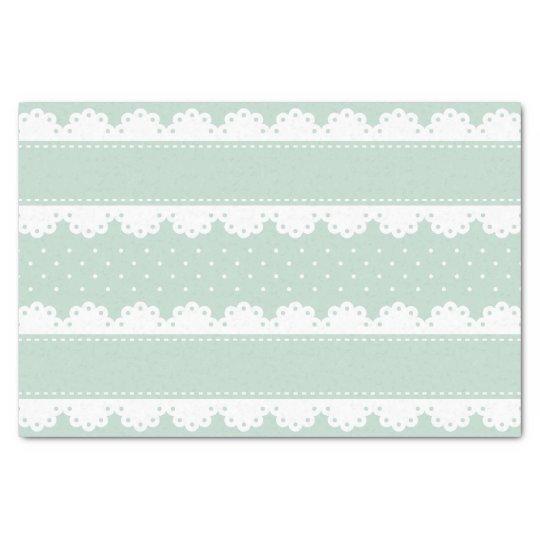 Cute Mint Green White Polka Dot Lace Pattern