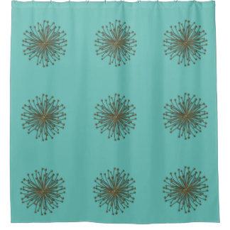 Cute mint trendy modern abstract dandelion shower curtain