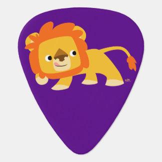Cute Mischievous Cartoon Lion Plectrum