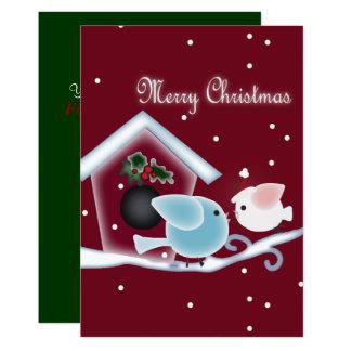 Cute mistletoe Love Birds Our First Christmas Card