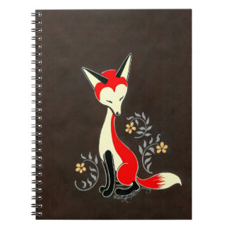Cute Modern Artsy Fox Painting Spiral Notebook