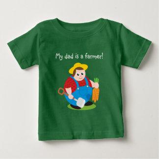 Cute modern cartoon of a proud farmer, baby T-Shirt
