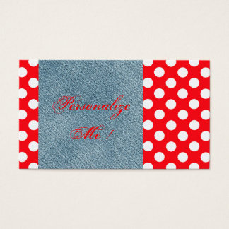 Cute Modern Denim Blue Jeans Card Trendy Pattern
