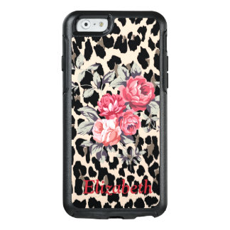 Cute  Modern Flowers On Leopard Print-Personalized OtterBox iPhone 6/6s Case