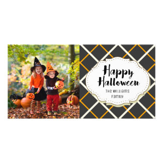 Cute Modern Happy Halloween Picture Photo Card