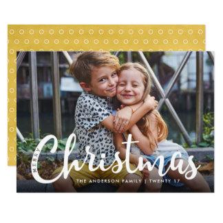 Cute Modern Merry Christmas Photo Card