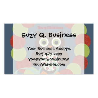 Cute Modern Owl Wreath Merry Christmas Gifts Pack Of Standard Business Cards