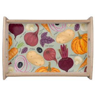 Cute modern pattern serving tray