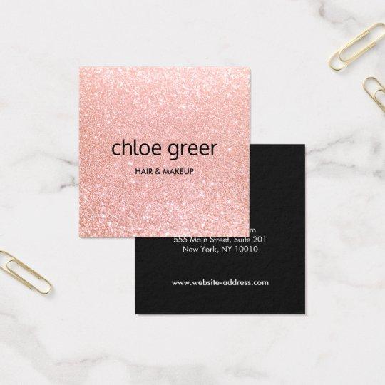 Cute Modern Pink Glitter Beauty Salon Square Business