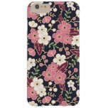Cute Modern Spring Flower Pattern Girly Floral Barely There iPhone 6 Plus Case